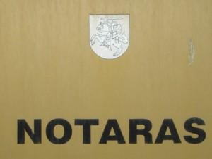 notarai Vilniuje